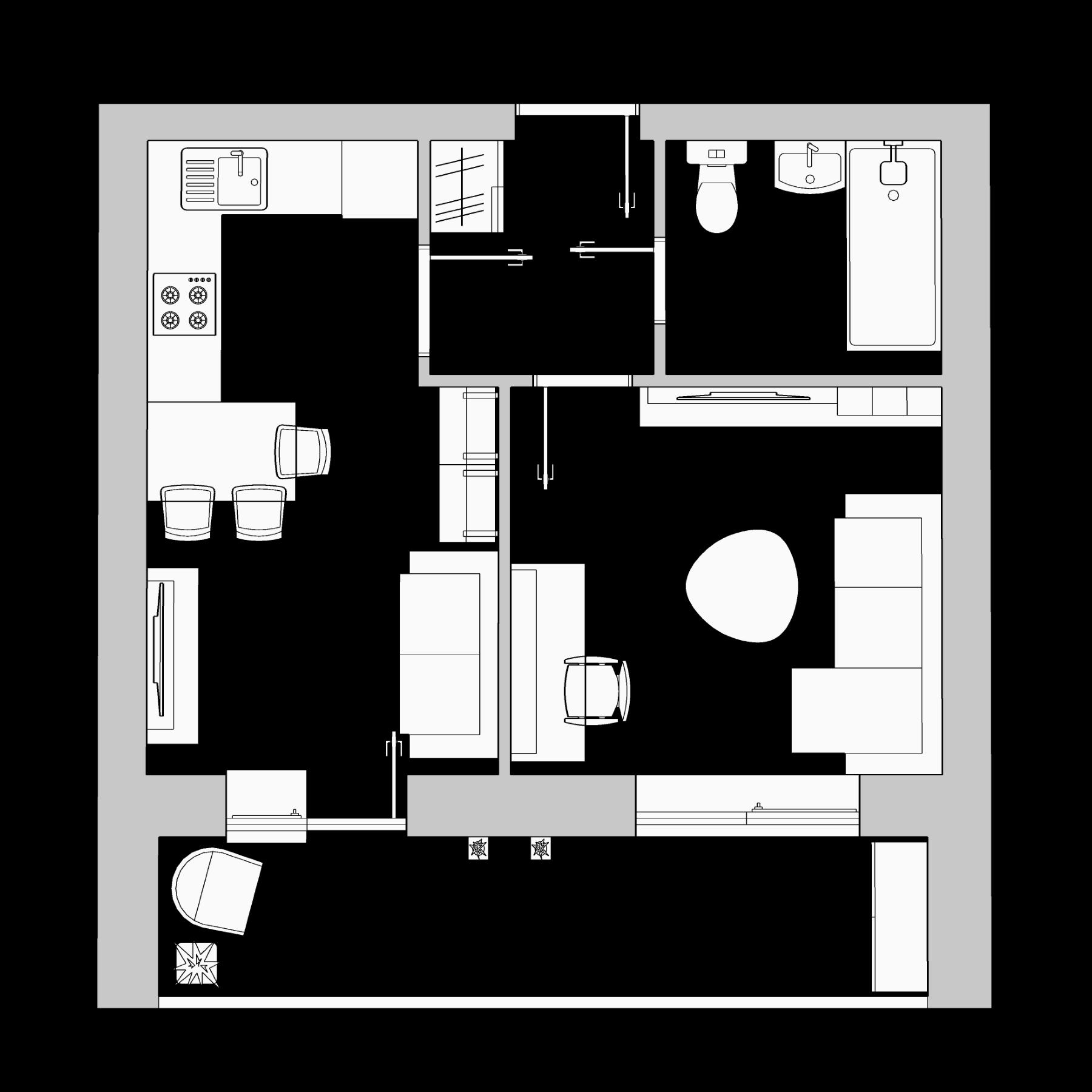 1-комнатная квартира 35.54