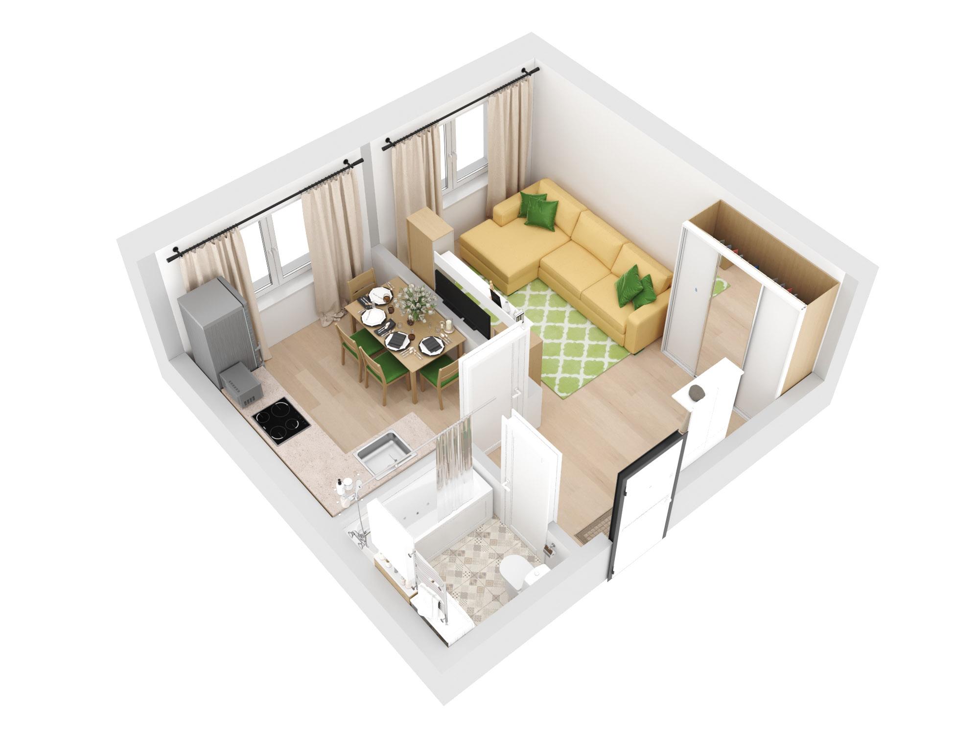 1-комнатная квартира 30.94